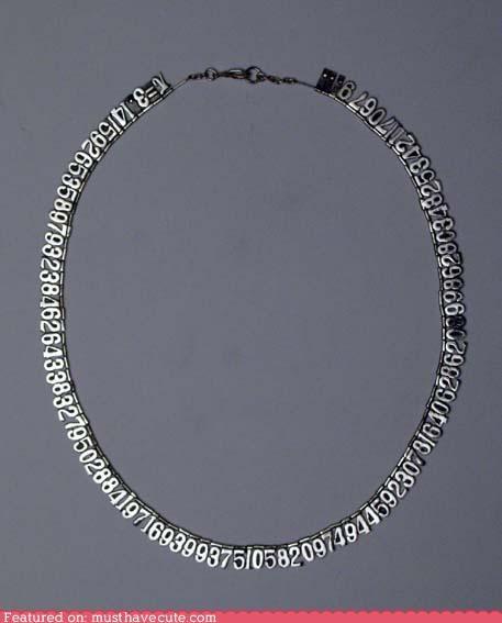 accessory cute-kawaii-stuff geeky Jewelry math metal necklace nerdy - 3916025088