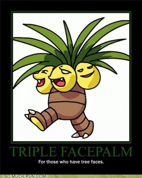 eggs Exeggutor facepalm Pokémon puns trees - 3916451584