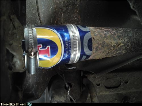 beer beer can exhaust Kludge - 3916556032