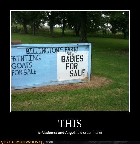 Babies celeb farm goats Terrifying - 3916787200