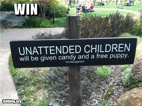 Family Friendly Park Nothing says watch your children more than this