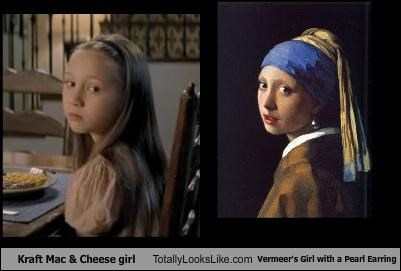 girl with a pearl earring,kraft mac and cheese,vermeer