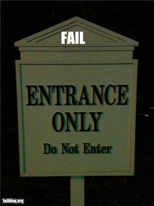 confusing entrance exit failboat g rated signs - 3919450112