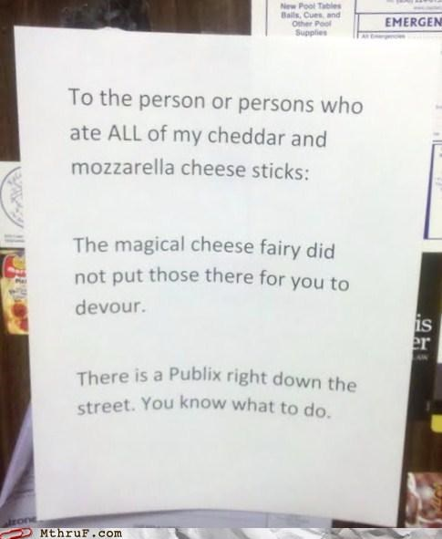 basic instructions cheese cubicle rage depressing dickhead co-workers fridge battle fridge politics jerks office kitchen paper signs rage Sad sass screw you theft whine wiseass - 3919625728