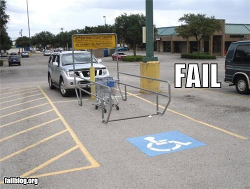 cars,designated,failboat,g rated,handicap,parking spots,shopping carts