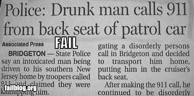 911,cop cars,drunk,emergency,failboat,newspaper,police