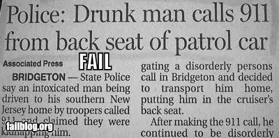911 cop cars drunk emergency failboat newspaper police - 3920172800