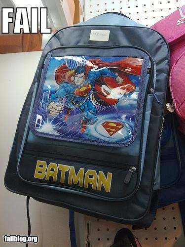 backpack batman failboat g rated knock offs superheroes superman - 3920593152