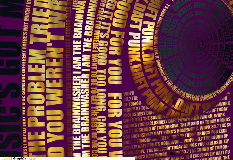 art chart art daft punk design poster typography - 3920842496