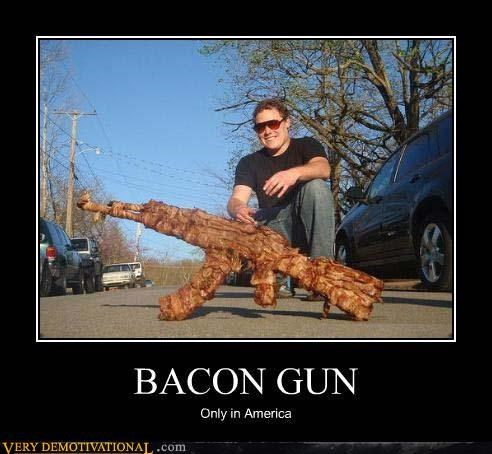 america awesome bacon guns Hall of Fame meat pride Pure Awesome - 3921206784