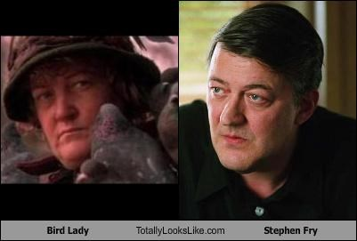 bird lady comedian Home Alone movies Stephen Fry