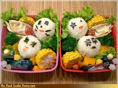 band bento bento box box KISS Music rice rock rock n roll
