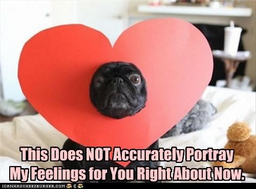 feelings heart inaccurate portrayal pug upset - 3922473728