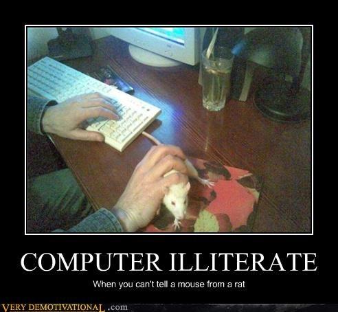 computers idiots mouse puns rat - 3922627584