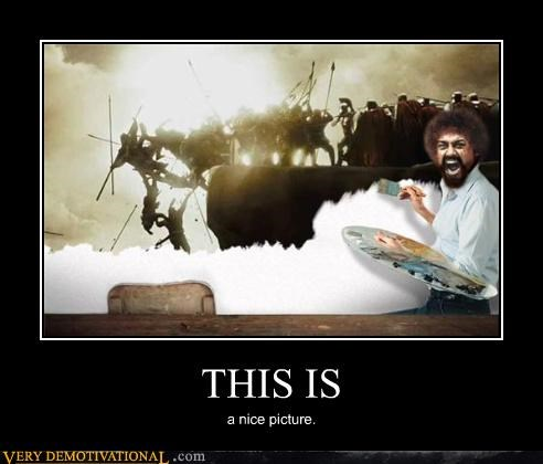 300,bob ross,Hall of Fame,nice,painting,picture,Pure Awesome,sparta