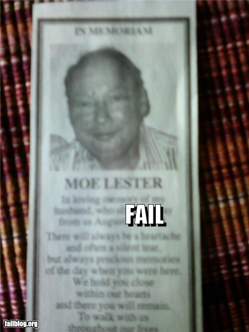 classic failboat names newspaper obituary - 3923322368