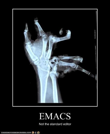 EMACS Not the standard editor