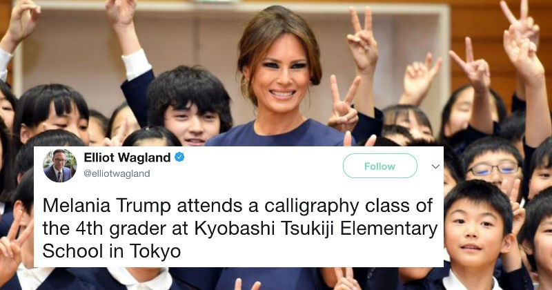 Melania Trump inspires new wave of memes after holding up blank paper to the camera.
