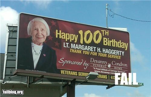 billboard birthdays congratulations failboat funeral homes irony old people sponsor - 3923502080
