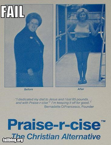 exercise failboat g rated jesus poster praise weight - 3923664640