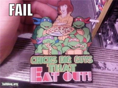 cartoons classic failboat innuendo magnets pizza teenage mutant ninja turtles - 3923799808
