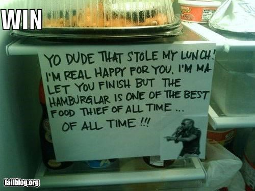 awesome failboat food kanye west lunch notes of all time thief win - 3923800832