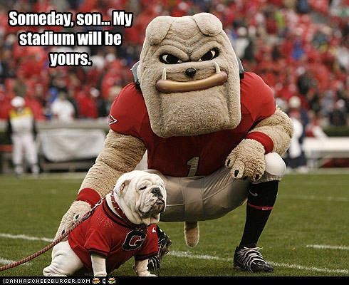 bulldogs Father Georgia Hall of Fame inheritance jersey pun Someday son stadium - 3924300032