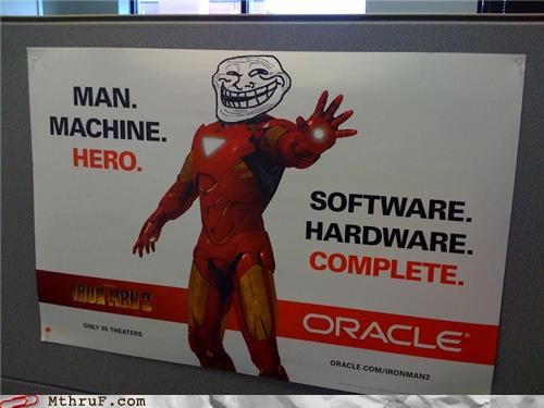 awesome co-workers not boredom cubicle boredom cubicle decor decoration dickhead co-workers dickheads iron man poster prank sass signage troll trollface wiseass - 3924547840