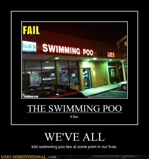 sign,poop,lights,swimming pool