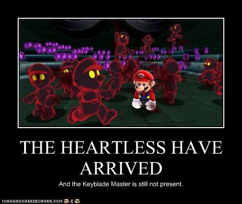 THE HEARTLESS HAVE ARRIVED And the Keyblade Master is still not present.