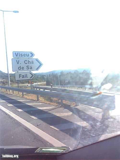 fail town failboat nuclear base road signs wrong way - 3928588800