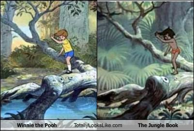 The jungle book,winnie the pooh