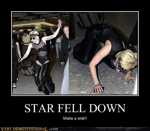 lady gaga,wish,falling star