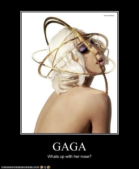 GAGA Whats up with her nose?