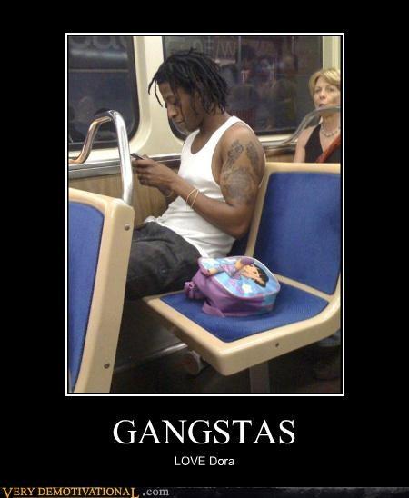 gangsta dora the explorer backpack - 3930716160