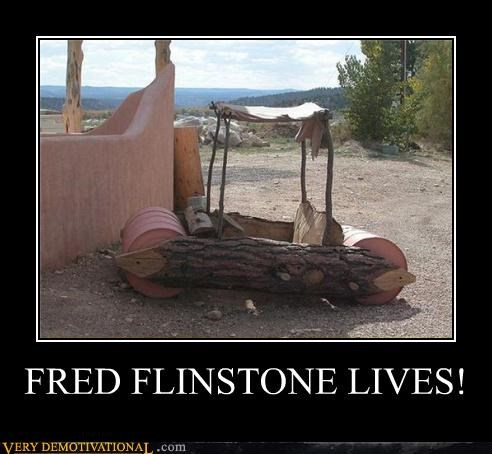 wtf car fred flintstone - 3930823936