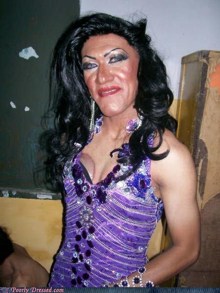 bad makeup drag wigs