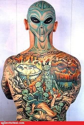 Aliens,back pieces,full-body fail