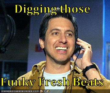 beats,comedians,funky,headphones,not funny,Ray Romano,white people