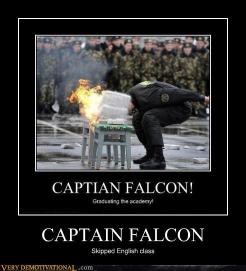 english captain falcon