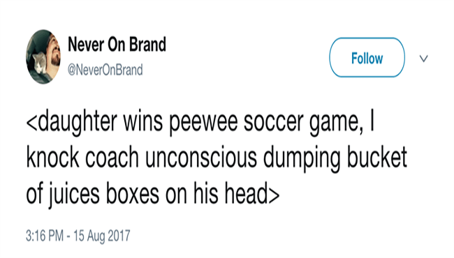 a funny list of tweets from parents who hate kids sports games