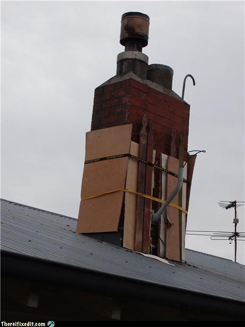 cardboard,chimney,flammable,Kludge