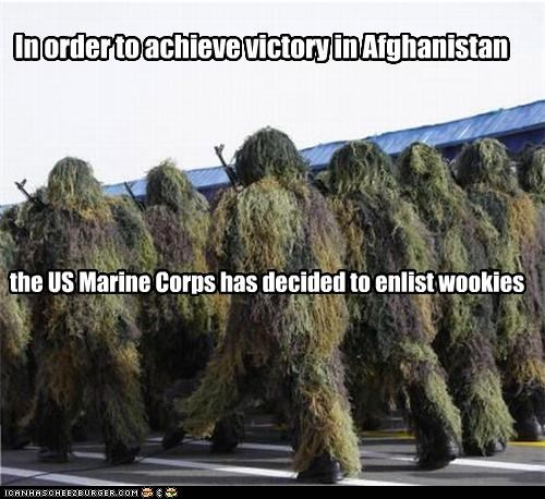 In order to achieve victory in Afghanistan the US Marine Corps has decided to enlist wookies