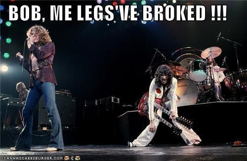 broke led zeppelin legs live music rock and roll - 3933806336
