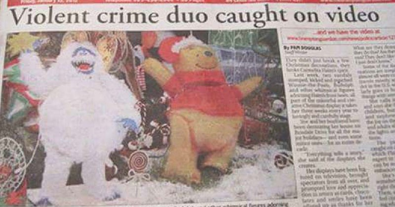 Funny and entertaining failed newspaper and magazine layouts that almost seem like they were intentional.