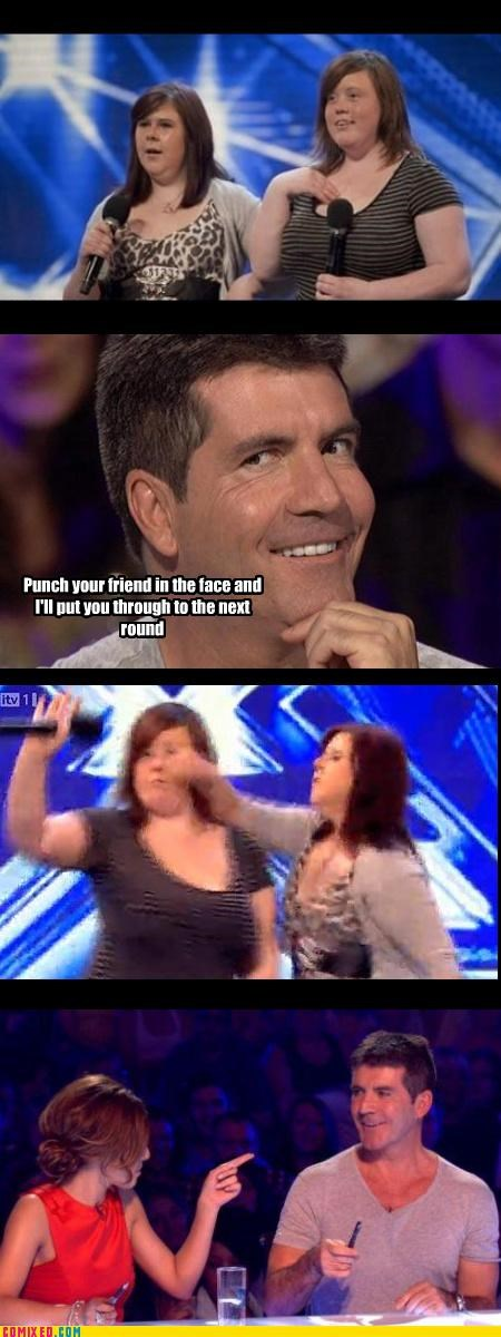 fat girls lol simon cowell singing TV x factor - 3935340800