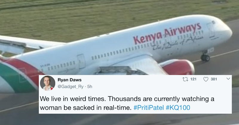 People are using Twitter to document this woman's flight home.