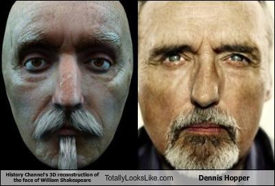 dennis hopper,history channel,william shakespeare