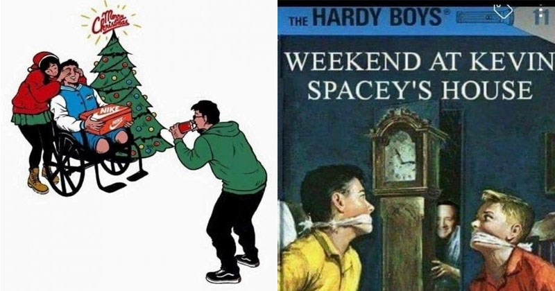 Funny spicy dank memes about Kevin Spacey, lord of the rings, communism, dogs, sex, doctors, jesus. | Person - HARDY BOYS 11 WEEKEND AT KEVIN SPACEY'S HOUSE
