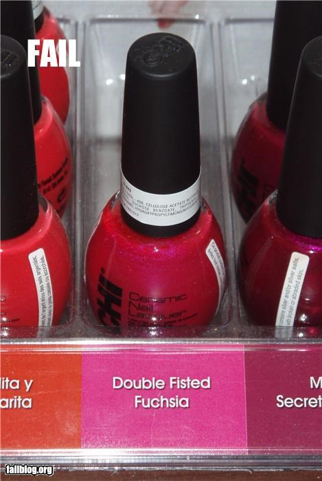 A Double Fisted Fantasy? A CHI nail polish in the Secret Fantasy called Double Fisted Fuchsia.